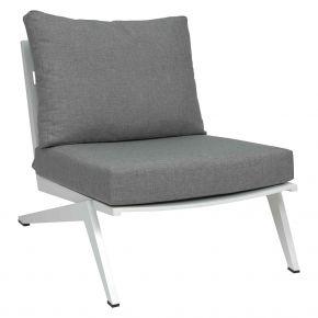 Stern JACKIE Sessel weiß mit Kissen seidengrau, 100% Polyacryl mit Reißverschluss