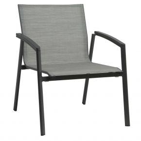 Stern NEW TOP Loungesessel Alu anthrazit mit Textilenbezug silber und Aluminiumarmlehnen anthrazit, stapelbar