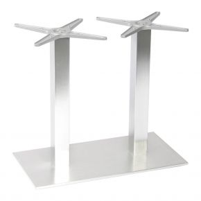 Stern Mailand Tischgestell Aluminium Edelstahloptik für Tischplatte Silverstar 2.0 130x80cm