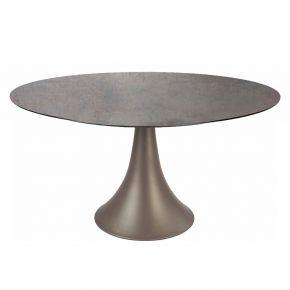 Stern Ben Tisch Ø 134 cm Aluminium taupe mit Tischplatte Silverstar 2.0, Dekor Smoky