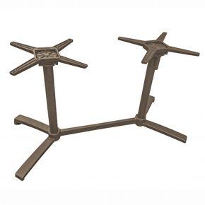 Stern Livorno Tischgestell Aluminium taupe für Tischplatte Silverstar 2.0 130x80 cm Doppelwangen-Tischgestell abklappbar, ineinander stellbar