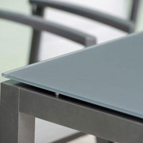 Stern Color Glas Tischplatte 160x90 cm, Dekor grau, Modell 2018