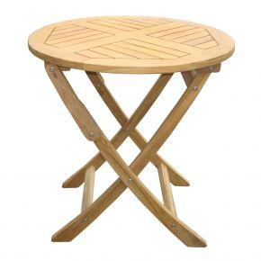 ZEBRA Tisch POKER aus Teakholz 70 cm rund, klappbar