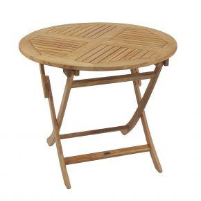 ZEBRA Tisch POKER aus Teakholz 90 cm rund, klappbar