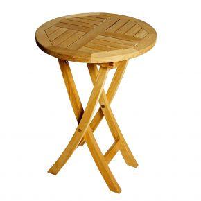 ZEBRA Tisch POKER aus Teakholz 50 cm rund, klappbar