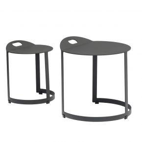 Zebra Zwo Tischset 2-tlg. Aluminium pulverbeschichtet graphite