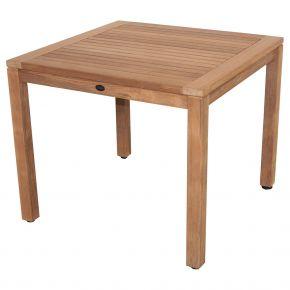 Zebra Tisch BALI aus Teakholz 90x90cm